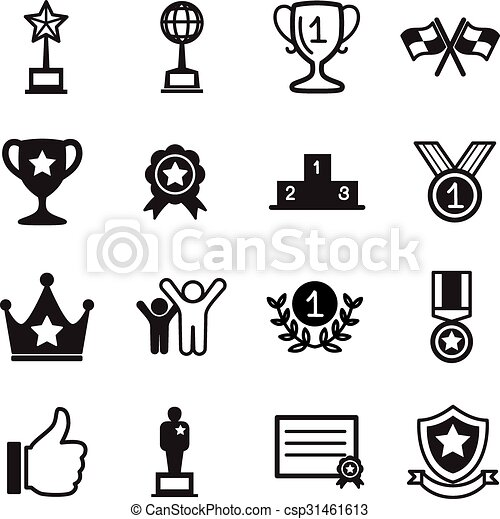 Win and success icons Set - csp31461613