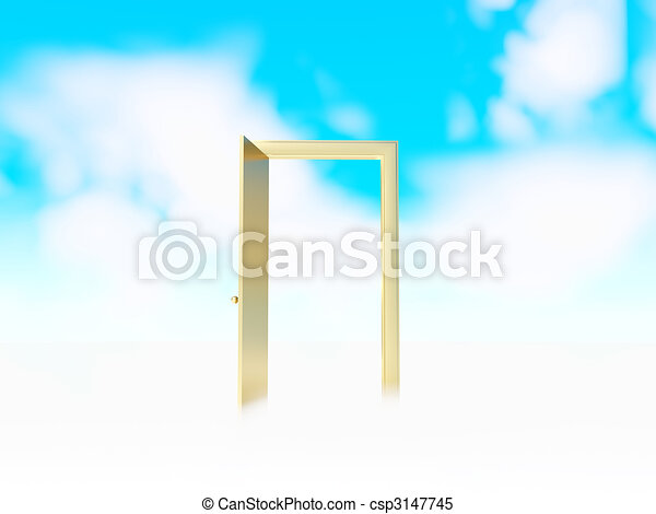 Door to heaven - csp3147745