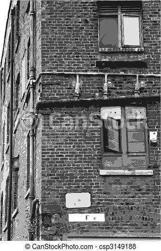 old victorian building - csp3149188