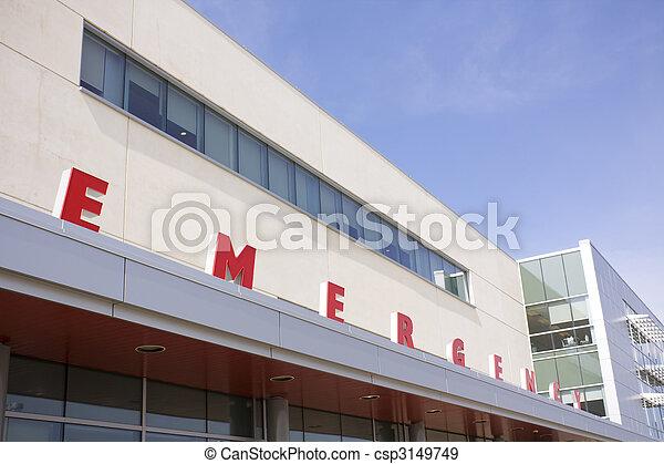 Modern hospital emergency sign - csp3149749