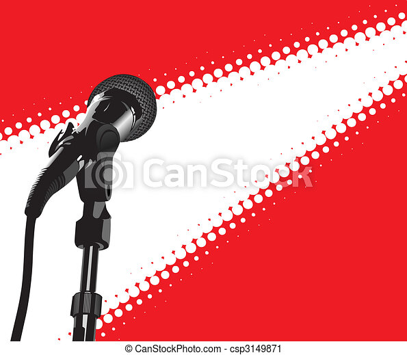 Microphone In Spotlight (vector) - csp3149871
