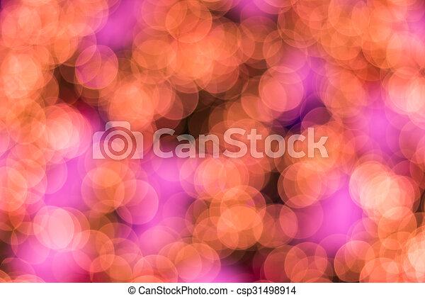 Defocused ligths of golden Christmas tree - csp31498914