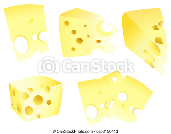 yellow tasty cheese set - csp3150413