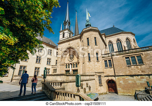 Notre-Dame Cathedral, Luxembourg is the Roman Catholic Cathedral - csp31509111