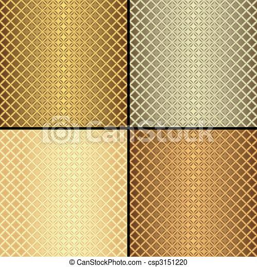 Set metallic seamless patterns (vector) - csp3151220
