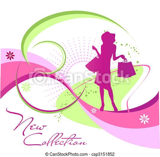 Fashion woman silhouette - csp3151852