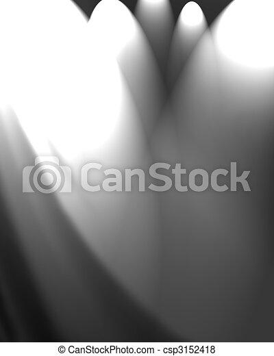 white drapery - csp3152418