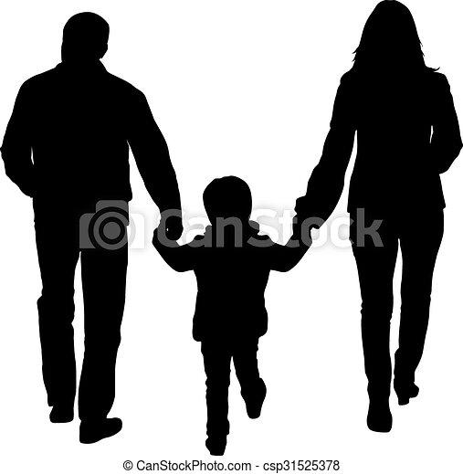 Ilustraciones vectoriales de ilustraci n familia plano - Familias en blanco y negro ...