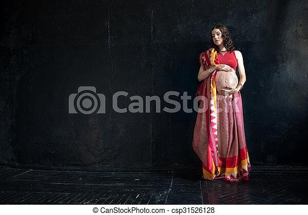 embarazada indio
