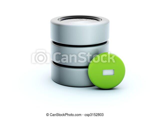 3d delete storage icon isolated on white - csp3152803