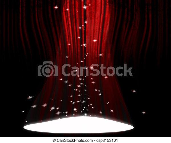 Movie or theater curtain - csp3153101