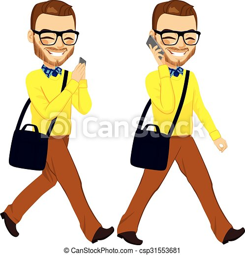 Walking man Vector Clipart Illustrations. 16,622 Walking man clip ...