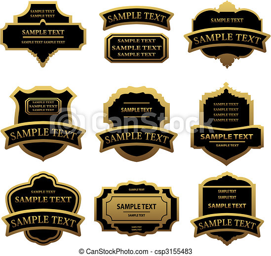 Set of golden labels and frames - csp3155483