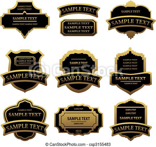 Set of golden labels and frames - csp3155483