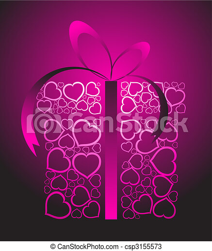 Stylized love present box - csp3155573