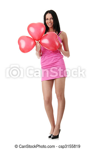 Valentines day girl - csp3155819
