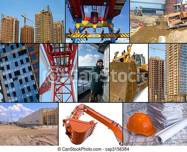 Construction site collage - csp3156384