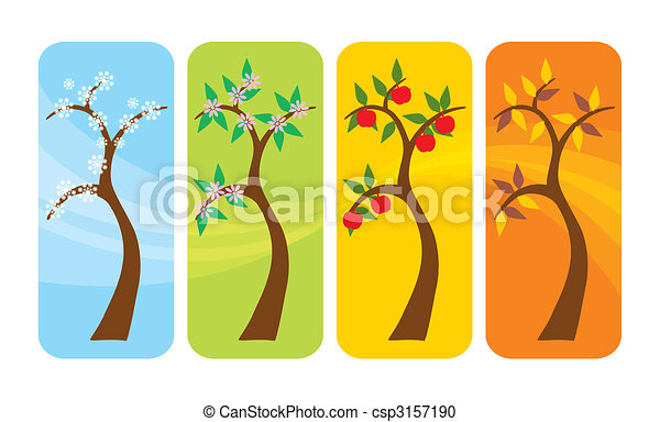 Four Seasons Tree - csp3157190