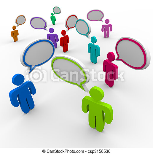 Disorganized Communication - People Speaking at Once - csp3158536