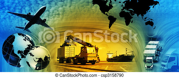 Freight template 2010 - csp3158790