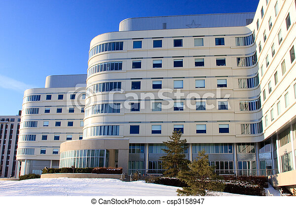 Modern Architecture in Winter - csp3158947