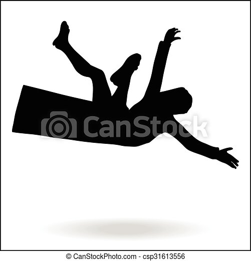 Clipart Vector of middle east style dressed man falling - middle ...