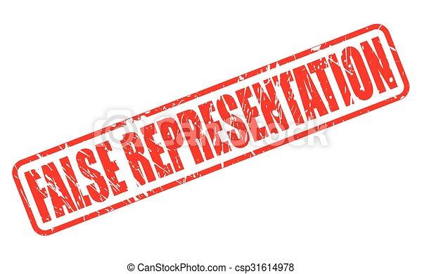 FALSE REPRESENTATION red stamp text - csp31614978