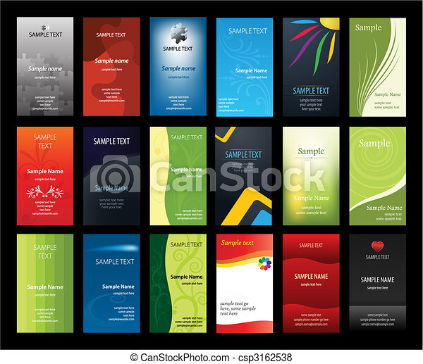 Set of verical business cards - csp3162538