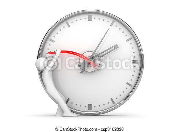 Stopping clock hands to stop the time - csp3162838