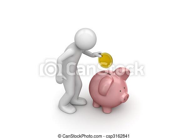 Making deposit savings - csp3162841