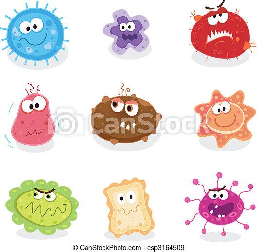 EPS vectores de bichos, microbios - cerdos, gripe, cáncer ...