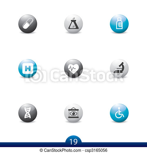 Icon series 19 - medical - csp3165056