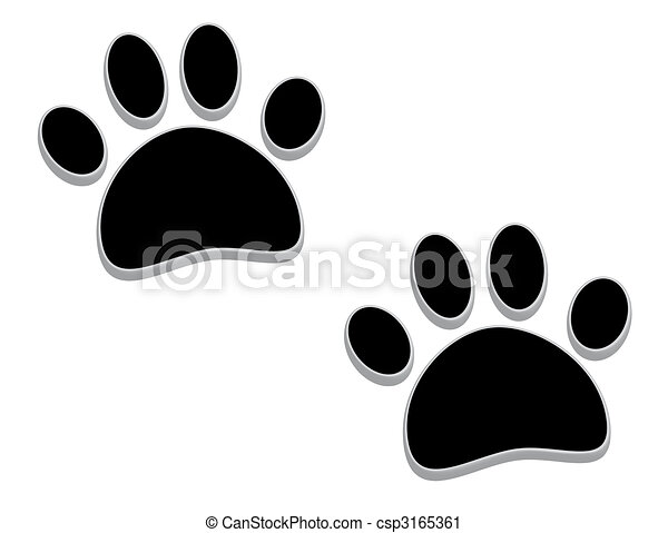 Stock Illustration of Bigfoot footprints. - Bigfoot footprints ...
