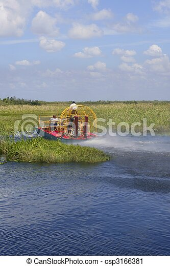 Stock Photography of Everglades airboat in South Florida, National Park -... csp3166381 - Search ...