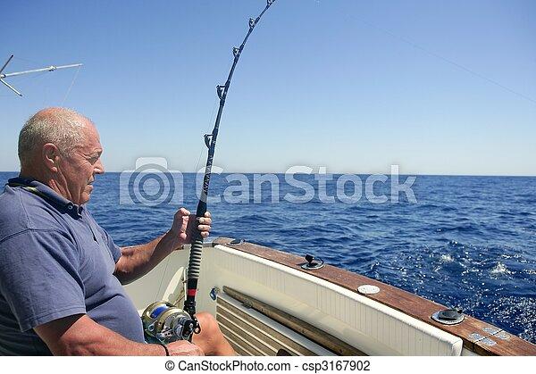 Angler senior big game sport fishing boat - csp3167902
