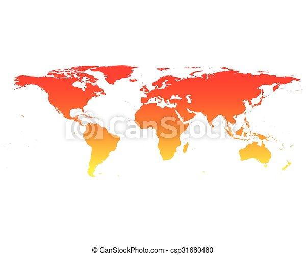 World map - csp31680480