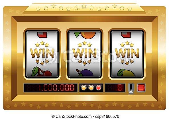 Win Slot Machine Gold - csp31680570