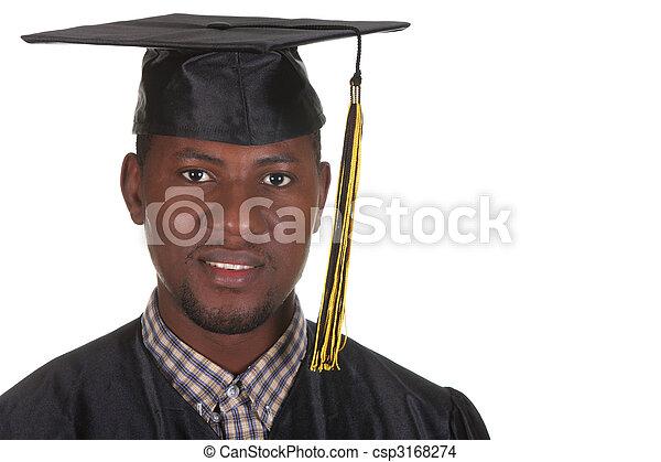happy graduation a young man - csp3168274