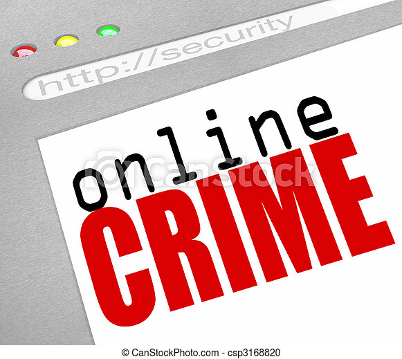 Online Crime - Web Screen and Text - csp3168820
