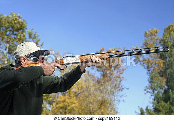Man Bird Hunting - csp3169112
