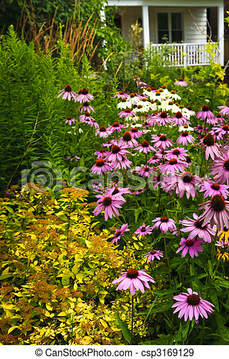 Residential garden landscaping - csp3169129
