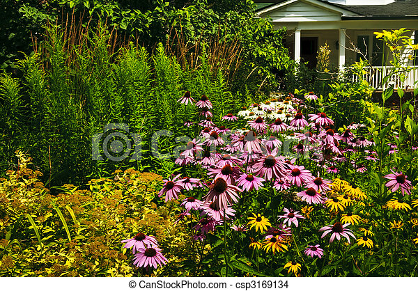 Residential garden landscaping - csp3169134