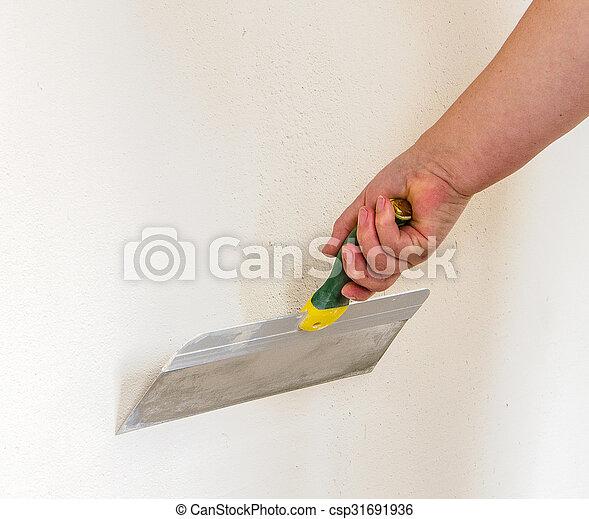 photos de mastic couteau maison am lioration mastic couteau csp31691936. Black Bedroom Furniture Sets. Home Design Ideas