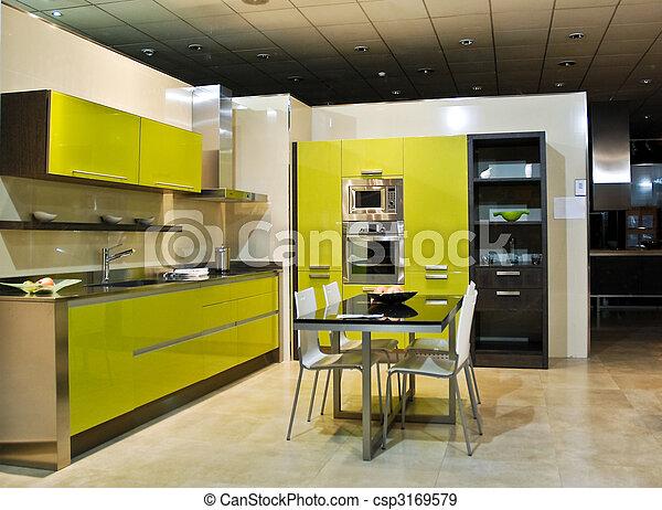 Stock fotografieken van moderne, keuken   een, volle, moderne ...