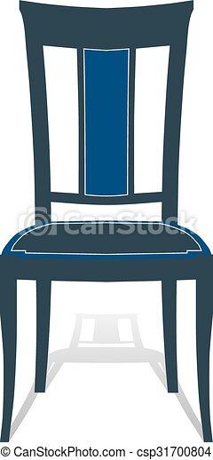 Sessel clipart  Vektor Clipart von sitz, hocker, sessel, stuhl - Icon, stuhl, mit ...