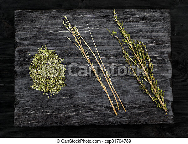 Dried rosemary, herb and spice