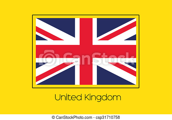 Flag Illustration of the country of United Kingdom - csp31710758