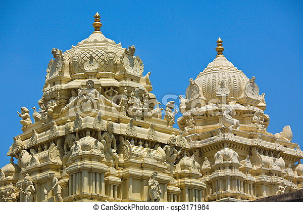 Gopuram (tower) of Hindu temple - csp3171984
