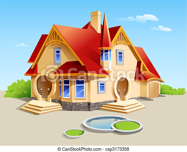 Stock Illustration of beautiful house illustration csp3173358 ...