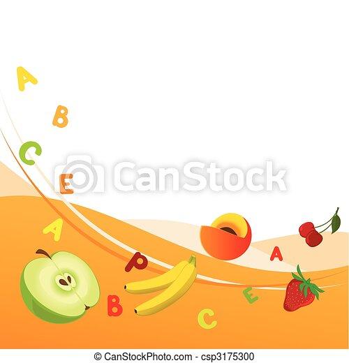 Fresh vitamins - csp3175300